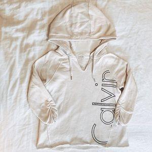 Calvin Klein Semi-Cropped White Hoodie